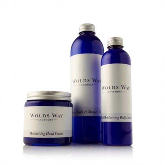 Wolds Way Lavender Bathing and Body Gift Set